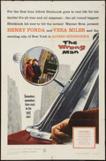 """Movie Posters:Hitchcock, The Wrong Man (Warner Brothers, 1957). One Sheet (27"""" X 41""""). Hitchcock.. ..."""