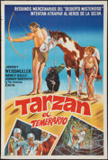 "Movie Posters:Adventure, Tarzan's Desert Mystery & Others Lot (RKO, R-1960s).Argentinean Poster (29"" X 43""), One Sheets (2) (27"" X 41"") &Title Lobb... (Total: 5 Items)"