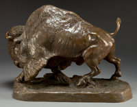 WILLIAM ROBINSON LEIGH (American, 1866-1955) Buffalo, 1956 Bronze with patina 16 inches (40.6 cm)