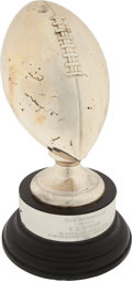 """Football Collectibles:Others, 1968 O.J. Simpson Miami Touchdown Club """"Outstanding College Football Player"""" Trophy...."""