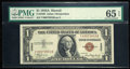 Small Size:World War II Emergency Notes, Fr. 2300 $1 1935A Hawaii Silver Certificate. Y-B Block. PMG Gem Uncirculated 65 EPQ.. ...