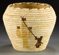 American Indian Art:Baskets, A PAPAGO PICTORIAL POLYCHROME JAR. Edith Martinez. ...