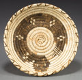American Indian Art:Baskets, A PAPAGO POLYCHROME COILED TRAY. Christina Johnson. ...