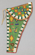 American Indian Art:Beadwork and Quillwork, A SIOUX BEADED HIDE HOLSTER. c. 1890...