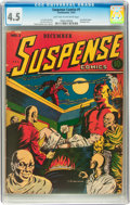 Golden Age (1938-1955):Horror, Suspense Comics #1 (Continental Magazines, 1943) CGC VG+ 4.5 Lighttan to off-white pages....