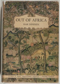 Books:Fiction, Isak Dinesen. Out of Africa. New York: Random House, [1938].First edition, first printing. Octavo. 389 pages. Publi...