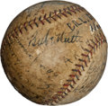 Autographs:Baseballs, 1927 Babe Ruth & Lou Gehrig with Cleveland Indians Team SignedBaseball....
