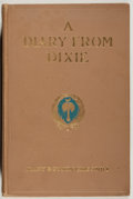 Books:Americana & American History, Mary Boykin Chesnut. A Diary from Dixie. New York: Appleton,1905. First edition, first printing. Octavo. 424 pa...