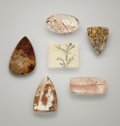 Gems:Cabochons, GEMSTONE COLLECTION: INCLUDED QUARTZ CABOCHONS. ...