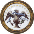 Political:3D & Other Display (pre-1896), Colorful Federal Eagle Tie-Back....