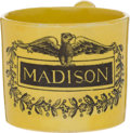Political:3D & Other Display (pre-1896), James Madison: Canary Child's Mug....