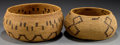 American Indian Art:Baskets, TWO CALIFORNIA COILED BOWLS... (Total: 2 Items)