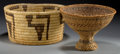 American Indian Art:Baskets, TWO SOUTHWEST BASKETRY ITEMS... (Total: 2 Items)