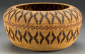 American Indian Art:Baskets, A MONO LAKE PAIUTE POLYCHROME COILED BASKET. c. 1930...