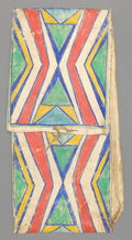 American Indian Art:Pipes, Tools, and Weapons, A PLAINS PAINTED PARFLECHE STORAGE ENVELOPE. c. 1890...