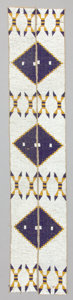 American Indian Art:Beadwork and Quillwork, A PAIR OF YANKTON SIOUX BEADED CANVAS LEGGING STRIPS...