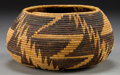 American Indian Art:Baskets, A POMO COILED BOWL. c. 1900...