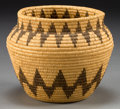 American Indian Art:Baskets, A PANAMINT COILED JAR. c. 1920...