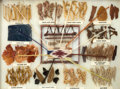 American Indian Art:Weavings, A NAVAJO DYE CHART. Ella Meyers...