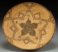 American Indian Art:Baskets, AN APACHE POLYCHROME TRAY. c. 1900. ...