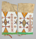 American Indian Art:Beadwork and Quillwork, A PAIR OF SIOUX WOMAN'S BEADED HIDE LEGGINGS. c. 1900... (Total: 1Pair)