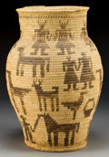 American Indian Art:Baskets, A PAPAGO PICTORIAL STORAGE JAR. c. 1940...