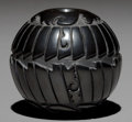 American Indian Art:Pottery, A SANTA CLARA CARVED BLACKWARE JAR. Linda Tafoya Oyenque...