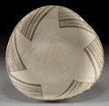 American Indian Art:Pottery, AN ANASAZI BLACK-ON-WHITE BOWL. c. 1000 - 1200 A.D....