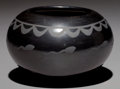 American Indian Art:Pottery, A SAN ILDEFONSO BLACKWARE JAR. Marie and Santana Martinez. c.1955...
