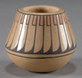 American Indian Art:Pottery, A SAN ILDEFONSO POLYCHROME JAR. Blue Corn...