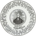 Political:3D & Other Display (pre-1896), William Henry Harrison: Tams Chickweed Campaign Plate....