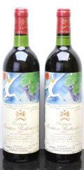 Red Bordeaux, Chateau Mouton Rothschild 1982 . Pauillac. 2bn, 2lfl. Bottle(2). ... (Total: 2 Btls. )