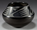 American Indian Art:Pottery, THREE SAN ILDEFONSO BLACKWARE ITEMS. Maria and Julian Martinez.Maria and Popovi Martinez. c. 1935 and 1961... (Total: 3 Items)