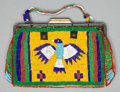 American Indian Art:Beadwork and Quillwork, A SIOUX BEADED HIDE PURSE. c. 1900...