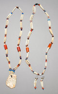 American Indian Art:Jewelry and Silverwork, TWO NORTHWEST COAST SHELL AND GLASS BEAD NECKLACES WITH MATCHINGEARRINGS... (Total: 2 Items)