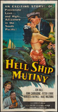 "Movie Posters:Adventure, Hell Ship Mutiny (Republic, 1957). Three Sheet (41"" X 78"").Adventure.. ..."