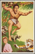"Movie Posters:Adventure, Tarzan Stock Poster (MGM, 1950s). One Sheet (27"" X 41"").Adventure.. ..."
