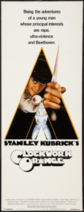 "Movie Posters:Science Fiction, A Clockwork Orange (Warner Brothers, 1971). Insert (14"" X 36"").Science Fiction.. ..."