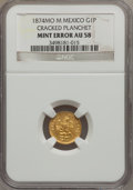 Mexico, Mexico: Republic Mint Error gold Peso 1874Mo-M,...
