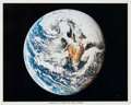 "Autographs:Celebrities, Apollo 10: ""View of the Earth"" Color Photo Signed by Mission Command Module Pilot John Young. ..."