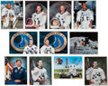 Autographs:Celebrities, Apollo Moonwalkers: Set of Signed Color Photos, Missing only Dave Scott.... (Total: 11 Items)