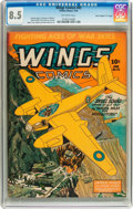 "Golden Age (1938-1955):War, Wings Comics #42 Davis Crippen (""D"" Copy) pedigree (Fiction House,1944) CGC VF+ 8.5 Off-white pages...."