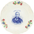 Political:3D & Other Display (pre-1896), Zachary Taylor: 1848 Dated Polychrome Plate....