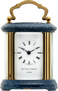 Timepieces:Clocks, Matthew Norman London Oval Carriage Clock. ...