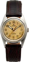 Timepieces:Wristwatch, Rolex Steel Ref. 4392 Bubble Back, circa 1945. ...
