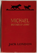 Books:Literature 1900-up, Jack London. INSCRIBED. Michael, Brother of Jerry. New York:Macmillan, 1917. First edition. Inscribed by Lond...