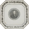 Political:3D & Other Display (pre-1896), George Washington: Rare Octagonal Dish....