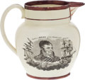 Political:3D & Other Display (pre-1896), Washington & Jones: War of 1812 Strawberry Lustre Pitcher....