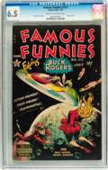 Golden Age (1938-1955):Science Fiction, Famous Funnies #212 (Eastern Color, 1954) CGC FN+ 6.5 Cream tooff-white pages....