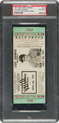 Baseball Collectibles:Tickets, 1941 Lou Gehrig Memorial Game Full Ticket Proof....